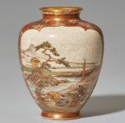 Satsuma-Vase. Kyoto. Spätes 19. Jh.