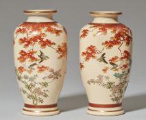 Paar Satsuma-Vasen. 20. Jh.
