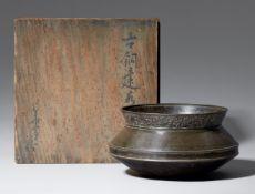 Gefäß für gebrauchtes Wasser (kensui). Bronze. 19. Jh.