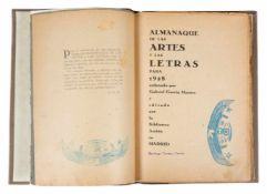 "García Maroto, Gabriel. ""Almanaque de las artes y las letras para 1928"". (Writers and artists"