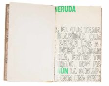 "Neruda, Pablo. ""Aún"". 1st edition. Santiago de Chile. Published by Nascimento, 1969. 68 pages 28 x"