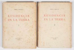 Neruda, Pablo. Residencia en la tierra (Residence on Earth)(1925-1935). 1st edition. Madrid.