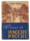 "Neruda, Pablo. ""Alturas de Macchu Picchu"" (The Heights of Macchu Picchu). 1st edition. Santiago de"