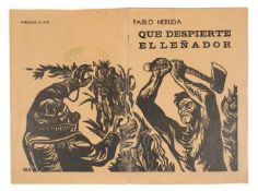 Neruda, Pablo. Que despierte el leñador (I wish the woodcutter would wake up). 1st edition,