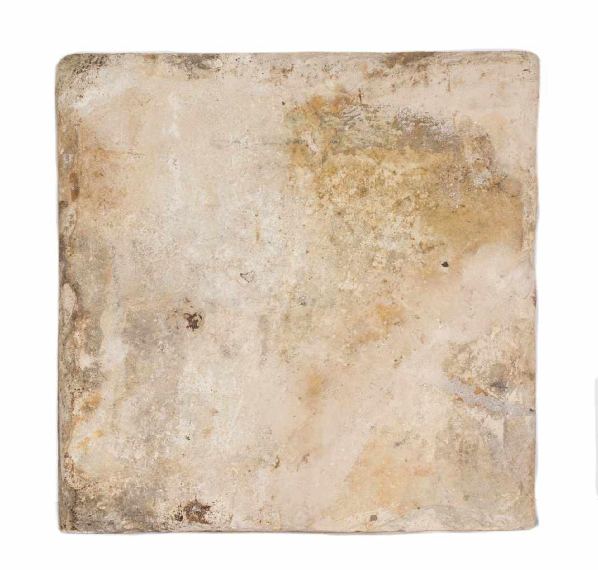 A damascus pottery tile ottoman. Syria. Circa 1565-1570. The white ground decorated in cobalt-b - Bild 4 aus 4