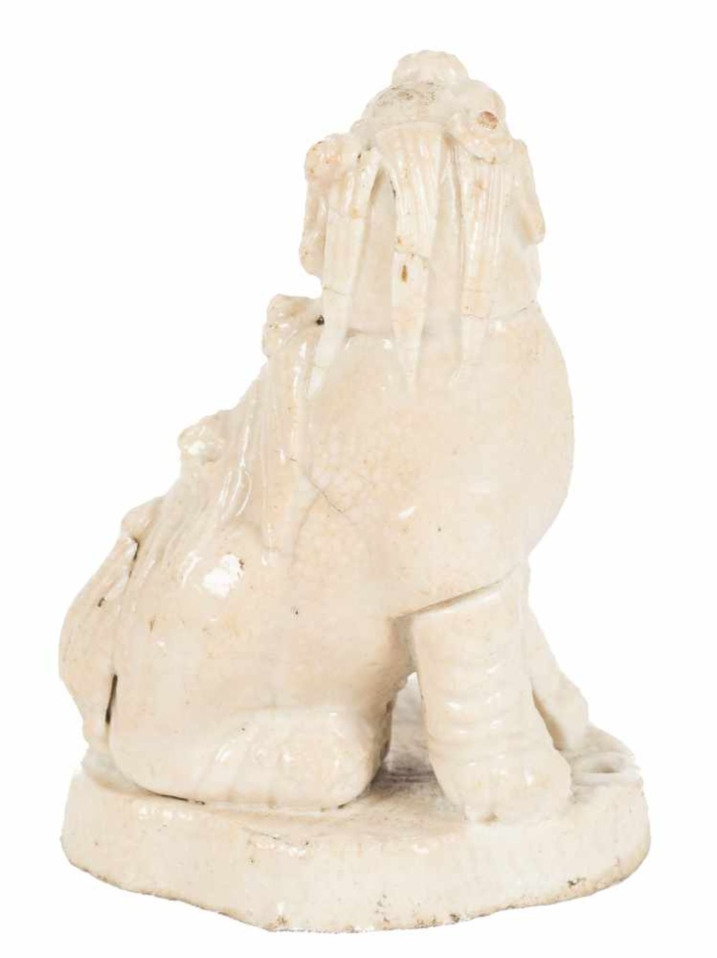Los 50 - Kylin in white porcelain. China. Ming Period (1368-1644)5,5 x 4 x 3 cm.