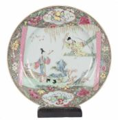 A Chinese Famille Rose large dish. Yongzheng period (1723-1735) and Qianlong period (1736-1795). <b