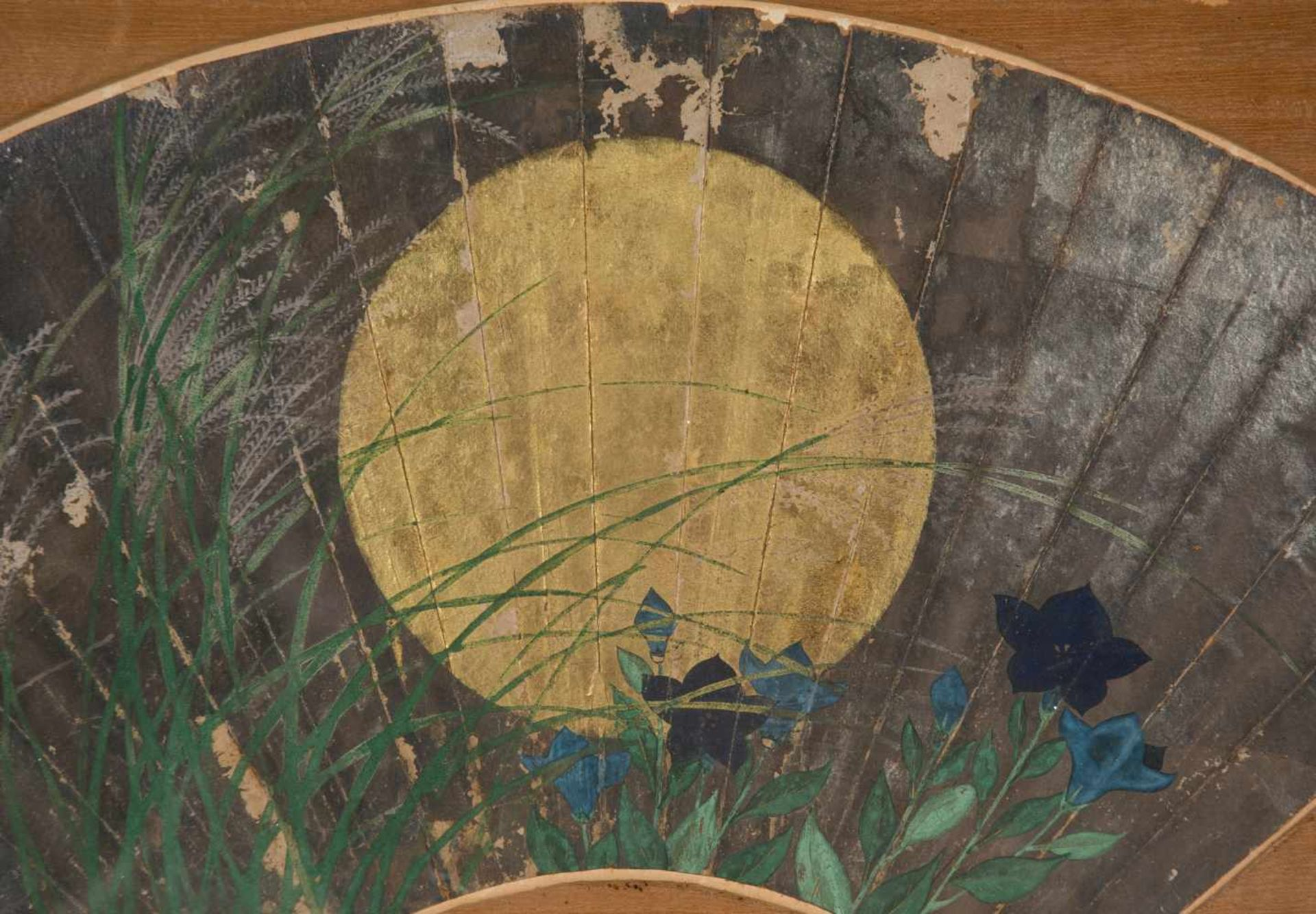"Los 53 - Attributed to Shibata Zeshin (Tokyo, 1807-1891)""Autumn grasses in moonlight""Ink and colour"