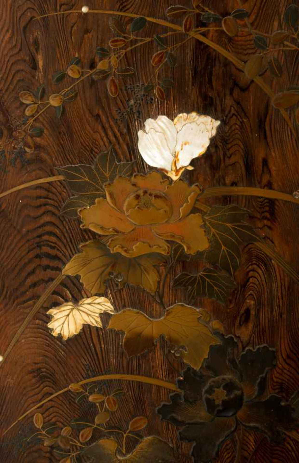 Los 33 - Attributed to Shibata Zeshin (Tokyo, 1807 - 1891)A magnificent rectangular panel polished to re