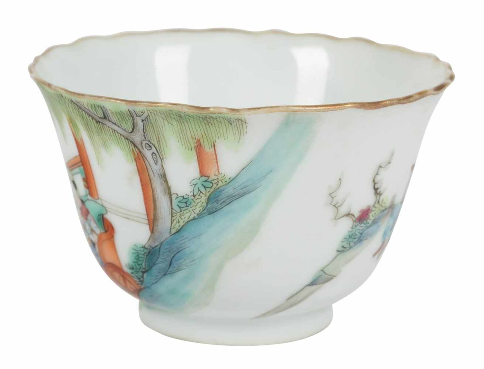 Los 1 - Porcelain bowl. Rosa family. China. Qing dynasty. Xianfeng (1851-61).Seal at the base.Diameter: