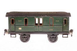 Märklin Postwagen 1876, S 1, HL, mit 4 AT, LS tw ausgebessert, gealterter Lack, L 24, sonst noch Z