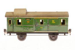 Märklin Gepäckwagen 1808, S 1, CL, mit 2 AT und 2 ST, LS und gealterter Lack, L 27, Z 2-3