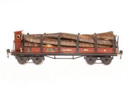 Märklin Rungenwagen 1852, S 1, HL, mit BRH, Ladung und Gussrädern, 1 Achslagerblende fehlt, LS und