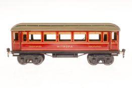 Märklin Mitropa Schlafwagen 1886, S 1, CL, mit 4 AT, LS und gealterter Lack, L 33,5, im tw besch.