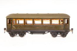 Märklin Personenwagen 1888, S 1, CL, mit Inneneinrichtung, 4 AT und Gussrädern, 2 Achslagerblenden