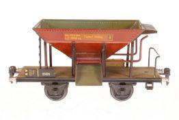 Märklin Schotterwagen 1767, S 1, HL, LS und gealterter Lack, L 24, im leicht besch. OK, Z 2-3