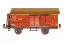 Märklin gedeckter Güterwagen 1791, S 1, CL, mit BRH und 2 ST (1 Griff fehlt), LS und gealterter