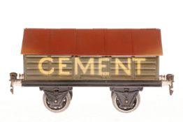Märklin Zementwagen, S 1, HL, mit Gussrädern, LS und gealterter Lack, L 19,5, Z 2-3