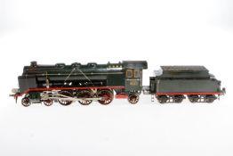 Märklin 2-C-1 Dampflok HR 64/13021, S 1, elektr., grün/schwarz, mit Tender, kW (ersetzt) und 2 el.