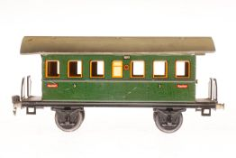 Märklin Personenwagen 1807, S 1, CL, mit 2 AT, LS und gealterter Lack, 1 Achslagerblende fehlt, L