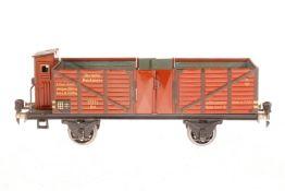 Märklin Hochbordwagen 1771, S 1, CL, mit BRH und Gussrädern, LS und gealterter Lack, L 27, Z 2-3