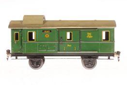 Märklin Gepäckwagen 1808, S 1, CL, mit 2 AT und 2 ST, LS und gealterter Lack, L 27, im leicht besch.