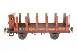 Märklin Rungenwagen 1772, S 1, CL, mit BRH, LS und gealterter Lack, L 27, Z 2-3