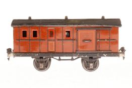 Märklin Gepäckwagen 1875, S 1, CL, mit 2 ST und Fremdbeleuchtung, L 24, bespielt