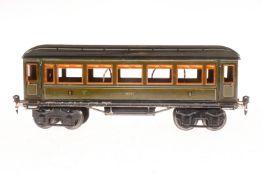Märklin Personenwagen 1886, S 1, CL, mit 4 AT, L 33,5, im besch. Karton, bespielt