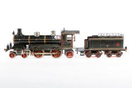 Märklin 2-B-1 Dampflok CE 1021, S 1, uralt, Uhrwerk intakt, mit NB-Tender, tw ergänzt, ÜL