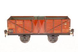 Märklin Hochbordwagen 1765, S 1, CL, 2x 2 LT, LS und gealterter Lack, L 24, Z 2-3