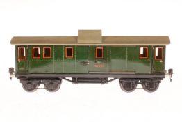 Märklin Gepäckwagen 1889, S 1, CL, mit 4 AT und 2 STH, LS und gealterter Lack, L 33,5, Z 2-3