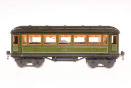 Märklin Personenwagen 1888, S 1, CL, mit Inneneinrichtung, 4 AT und Gussrädern, LS und gealterter