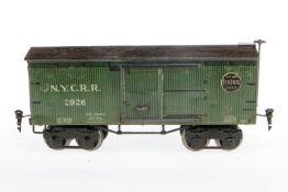 Märklin amerik. gedeckter Güterwagen 2926, S 1, CL, Bremsspindel ersetzt, tw nachlackiert, L 28, Z