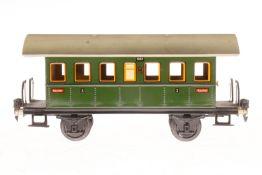 Märklin Personenwagen 1807, S 1, CL, mit 2 AT, LS und gealterter Lack, L 27, im leicht besch. OK,