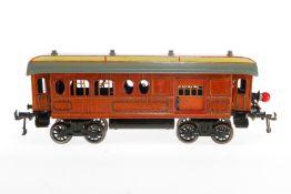 Bing Gepäckwagen, S 1, CL, mit Diensteinrichtung, 4 AT, 2 ST, Schlussbeleuchtung und Gussrädern,