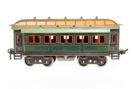 Märklin Personenwagen 1841, S 2, uralt, handlackiert, mit Inneneinrichtung und 4 AT, meist farbl.