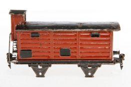 Märklin gedeckter Güterwagen 1967, S 1, handlackiert, L 20, Z 4