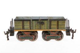 Märklin offener Güterwagen, S 1, uralt, handlackiert, 2x 2 LTH, Stirnseiten und Unterboden