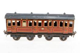 Carette Abteilwagen, S 1, rotbraun CL, mit Inneneinrichtung und 8 AT, Lackschäden und gealterter
