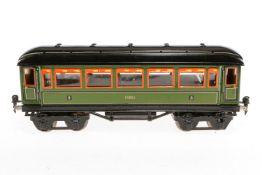 Märklin Personenwagen 1888, S 1, Chromlithographie, mit Inneneinrichtung, 4 AT und Gussrädern,
