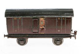 Märklin engl. Gepäckwagen 2872 MR, S 1, Chromlithographie, mit 2 AT, 1 Türgriff besch., 1 Kupplung