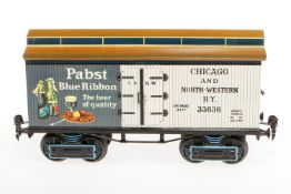 """Bauer amerik. Bierwagen """"Pabst"""" 2959, S 1, handlackiert, mit 3 DT, Lackschäden, L 26,5,"""