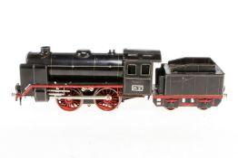 Märklin B-Dampflok R 66/12921, S 1, elektr., schwarz, mit Tender, kW und 2 el. bel. Stirnlampen, 1