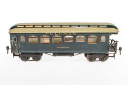 "Märklin amerik. Pullman-Schlusswagen ""Louisiana"" 2968, S 1, handlackiert, mit Inneneinrichtung, 2 AT"