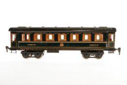 Märklin int. Schlafwagen 1847 G, S 1, blau HL, mit Inneneinrichtung, 4 AT und Gussrädern, Schilder