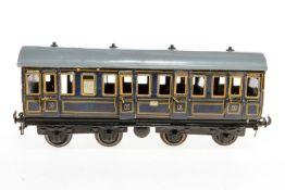 Carette Abteilwagen, S 1, blau CL, mit Inneneinrichtung und 8 AT, Dach ÜL, L 32, Z 3