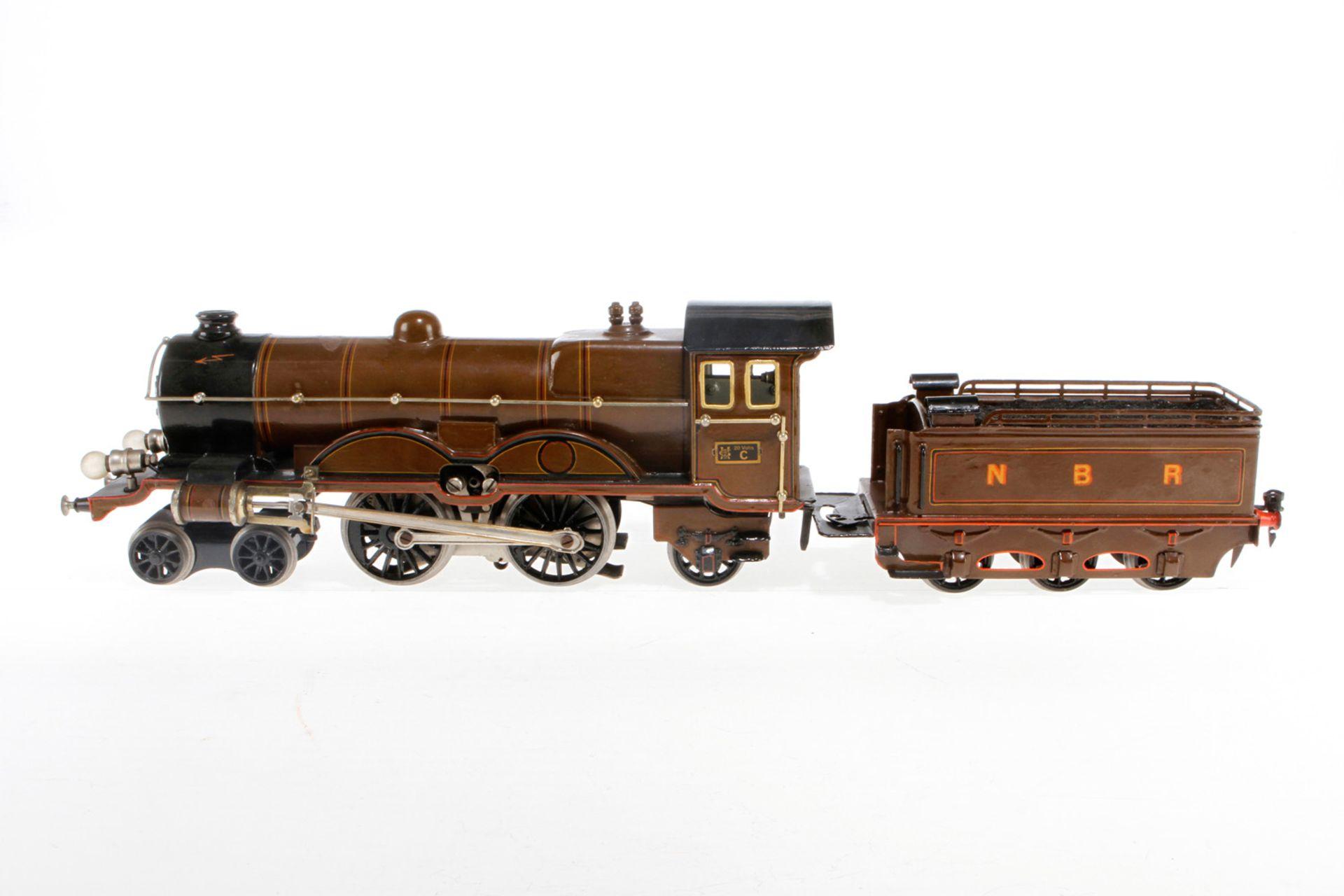 Märklin engl. 2-B-1 Dampflok CE 65/13021 NBR, S 1, elektr., braun/schwarz, mit Tender und 2 el. bel.