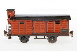 Märklin gedeckter Güterwagen 1929, S 1, HL, mit BRHh und 2 ST, LS und gealterter Lack, L 24, Z 2-3