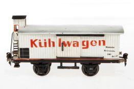 Märklin Kühlwagen 1987, S 1, HL, mit BRHh und 2 ST, LS tw ausgebessert, gealterter Lack, Delle im